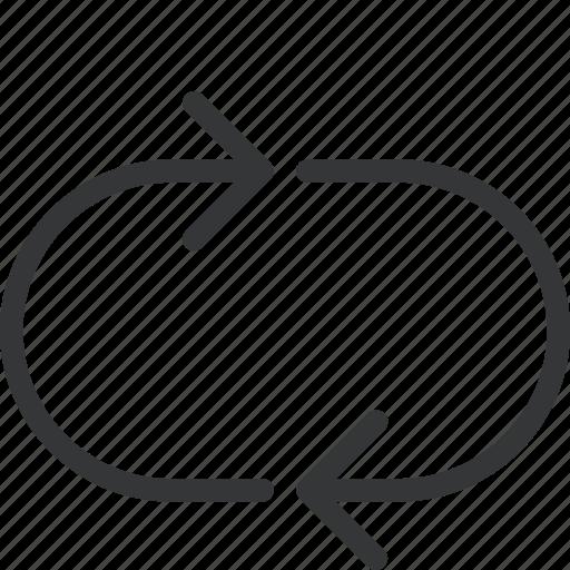 arrow, loop, looping, music, music loop icon
