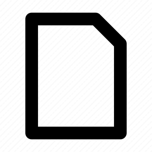 blank, doc, document, page, text icon