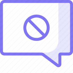 block, chat, communication, conversation, teamspeak icon