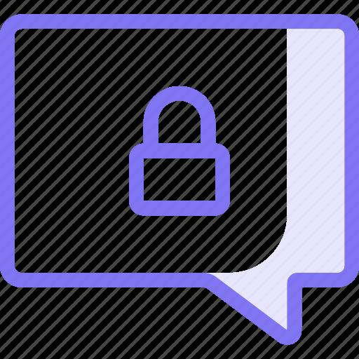 chat, communication, conversation, lock, teamspeak icon