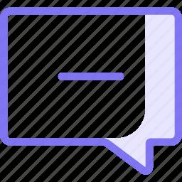 chat, communication, conversation, minus, teamspeak icon