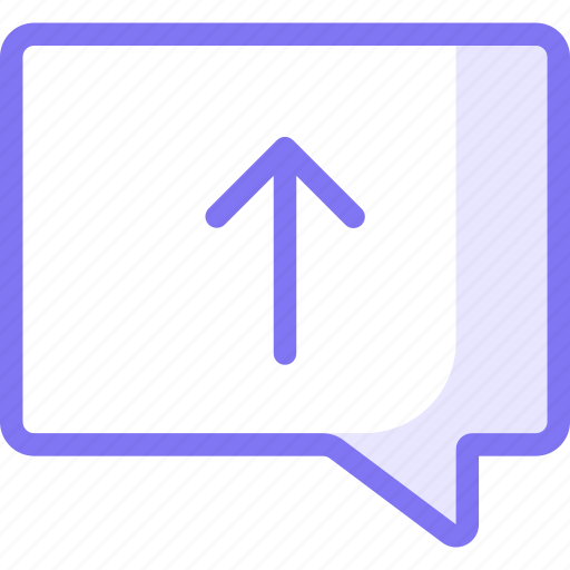 chat, communication, conversation, teamspeak, upload icon