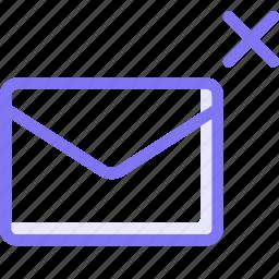 communication, conversation, cross, email, teamspeak icon