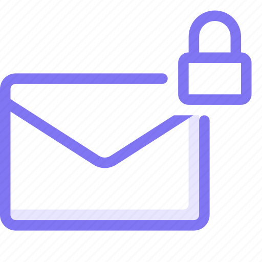 chat, communication, conversation, email, lock, private email, teamspeak icon