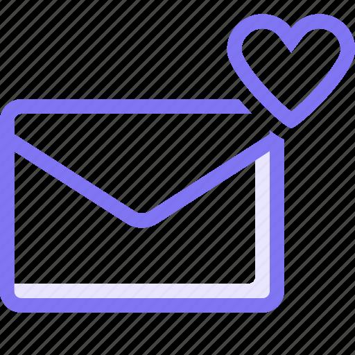 communication, conversation, email, favorite email, love, teamspeak icon