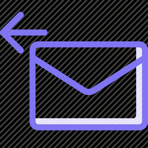 communication, conversation, email, teamspeak, undo icon