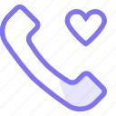 communication, conversation, love, phone, teamspeak icon