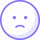 communication, conversation, emoji, expression, sad, sticker, teamspeak icon