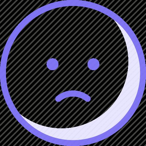 communication, conversation, emoji, expression, sad, sticker, teamspeak icon
