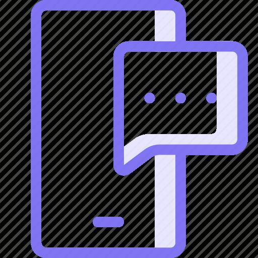 communication, conversation, mobile chat, mobile conversation, sms, teamspeak icon