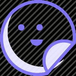 communication, emoji, expression, sticker, stickers icon