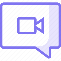 chat, communication, video icon
