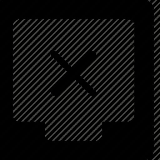 box, cross, document, file icon