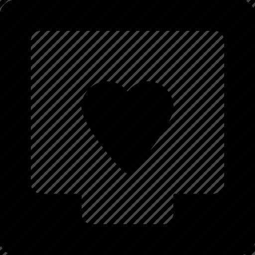 box, document, file, heart icon