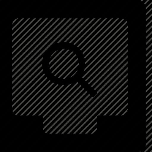 box, document, file, search icon