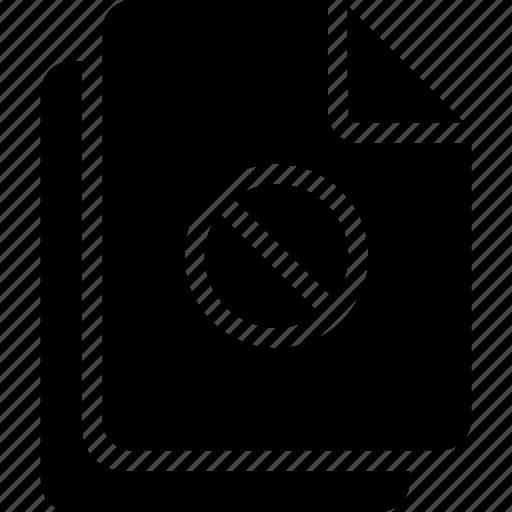 block, document, files icon