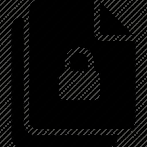 document, files, lock icon