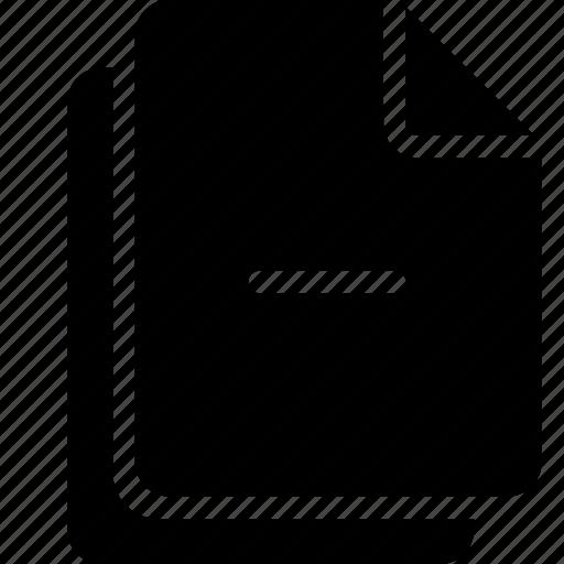 document, files, minus icon