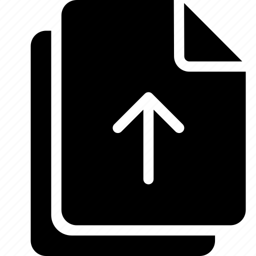 document, files, upload icon
