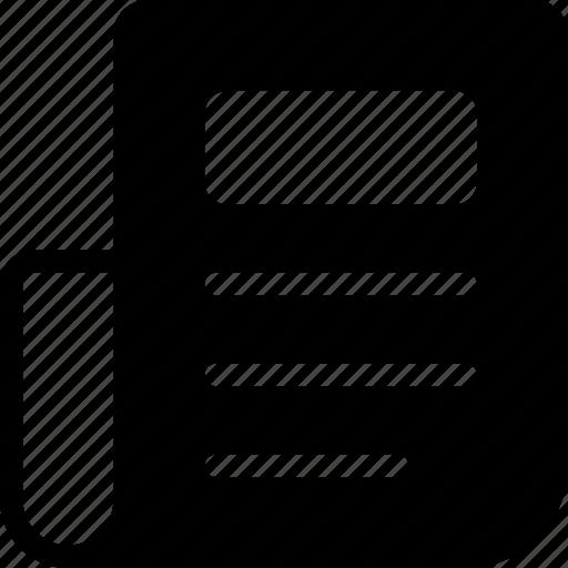 Document, headline, news, newspaper, paper icon - Download on Iconfinder