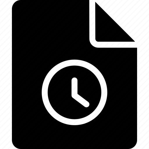 document, file, schedule, scheduled icon