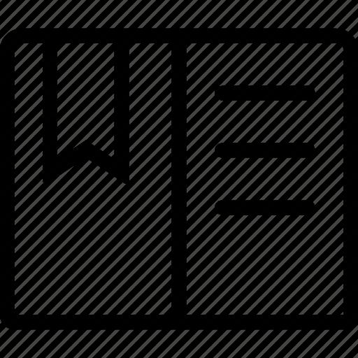a, bookmark icon