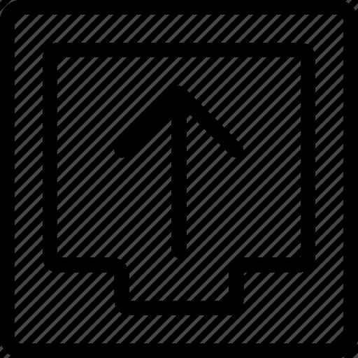 box, document, file, ui, upload icon