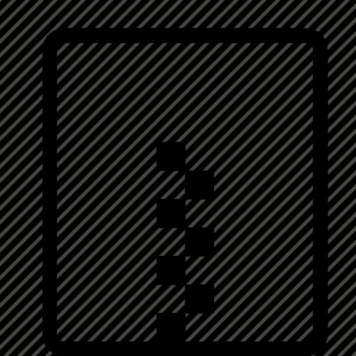 compressed, document, file, ui icon
