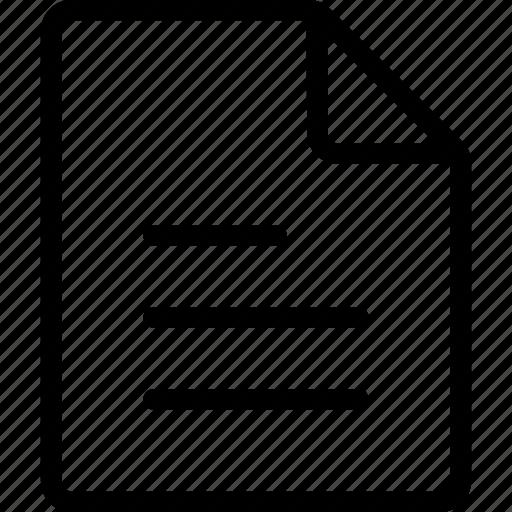 document, file, ui icon