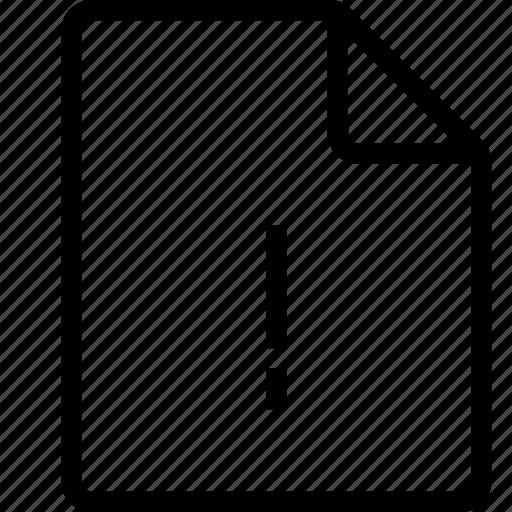 Alert, document, file, ui icon - Download on Iconfinder