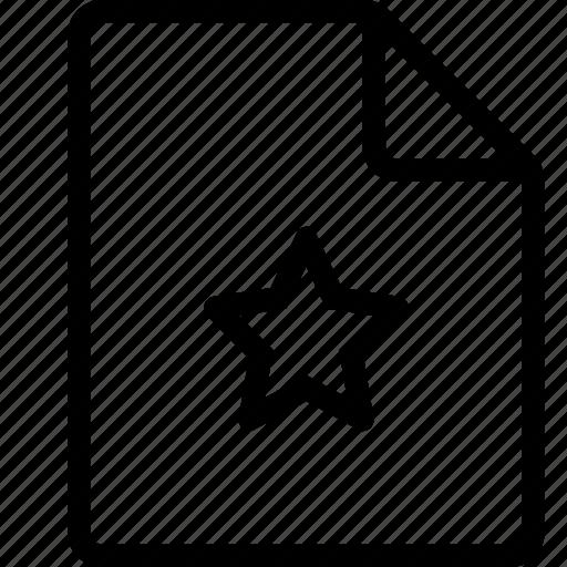 document, favorite, file, ui icon