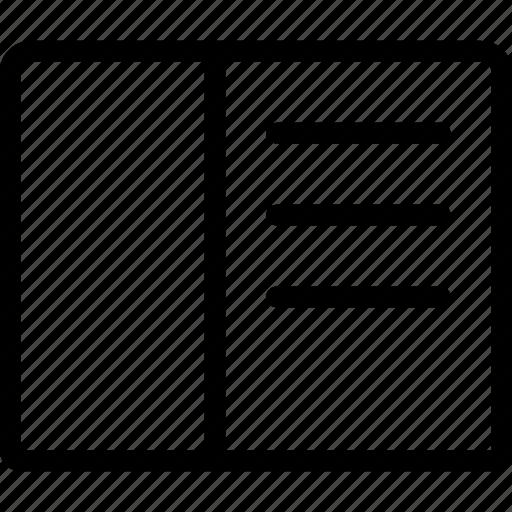 bookmark, document icon