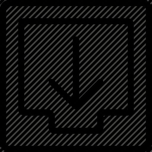 box, download, file icon