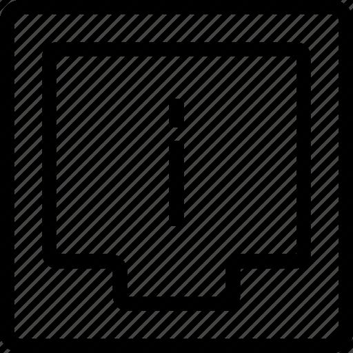 box, document, file, information icon