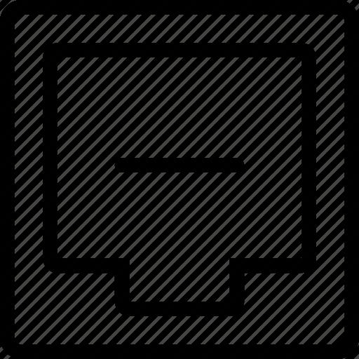 box, document, file, minus icon