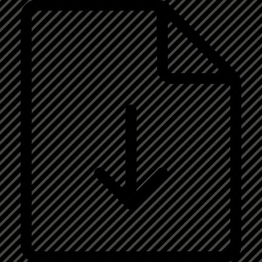 document, download, file, ui icon