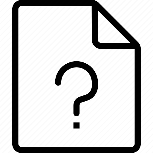 file, question, support icon