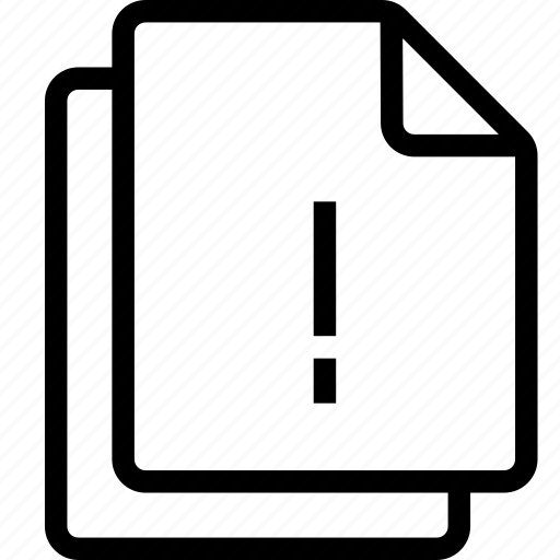 alert, files icon