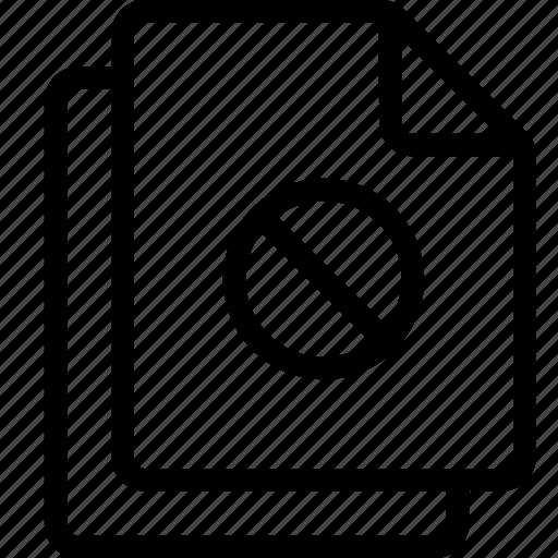 block, files, stop icon