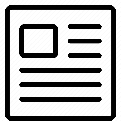 file, files, headline, newsletter icon