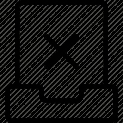 cross, delete, file, project, remove icon