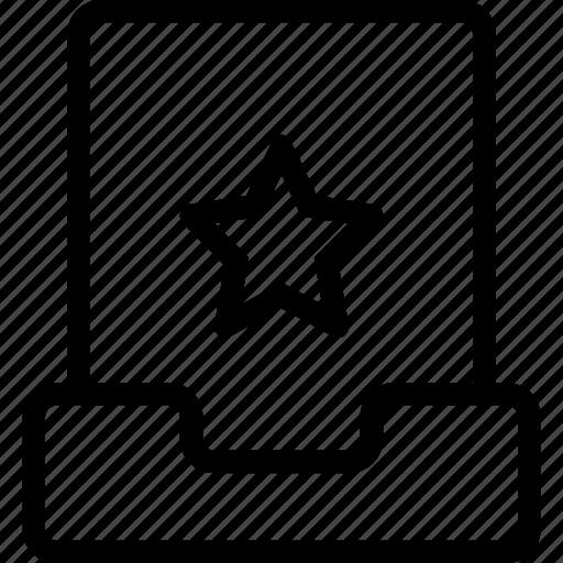bookmark, favorite, file, project, star icon