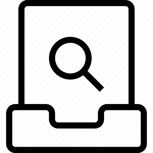 file, project, search icon