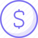 dollar, finance, sign icon