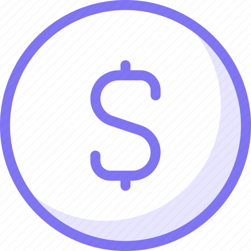 dollar, finance, sign icon