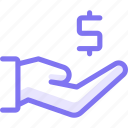 asking, donation, finance icon