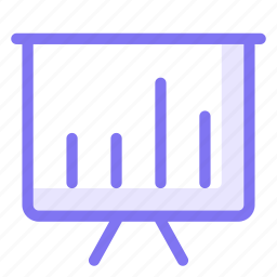 business, finance, graphic, performance, presentation, slide icon