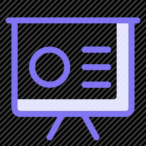 finance, graph, keynote, performance, presentation, slide icon