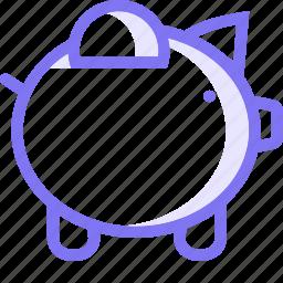 piggy, piggy bank, save, savings icon