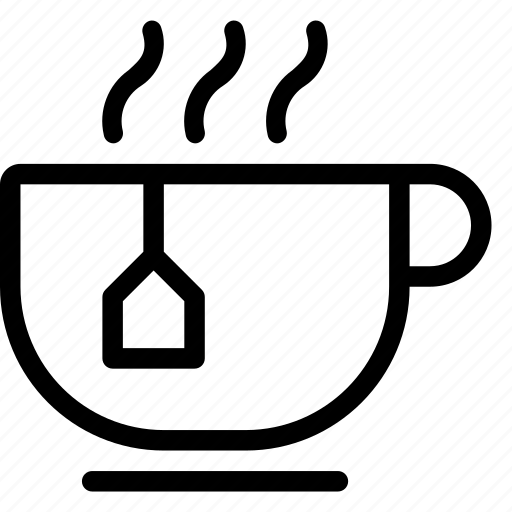 beverage, drink, glass, hot, tea, warm tea icon